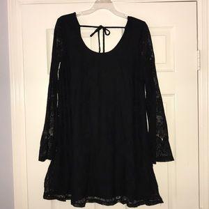 Altar'd State Black Long Sleeve Dress